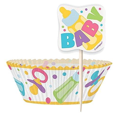 Baby Shower caissettes pour cupcakes et kit pour 24