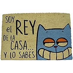 koko doormats Felpudo Coco-Rey de La Casa Gato, 40 x 60 cm