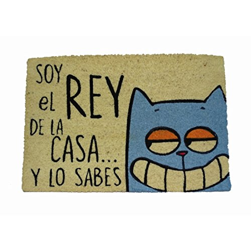 Koko doormats Felpudo Coco-Rey de La Casa Gato
