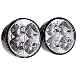 Best Fog Lights - Kkmoon 2pcs Universal 12V White 4 LED Round Review