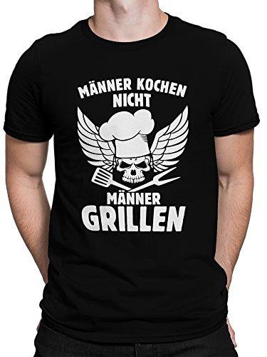 51ASkPErllL - vanVerden Herren Fun T-Shirt Männer Kochen Nicht Grillen Grillmeister Plus Geschenkkarte, Größe:XXL, Farbe:Schwarz