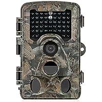[Aktualisierte Version] Distianert 16MP 1080P HD Wildkamera Low-Glow-Infrarot-Schwarzblitz Jagdkamera 25m Erfassungsbereich 20m Nachtsicht Wasserdicht IP56