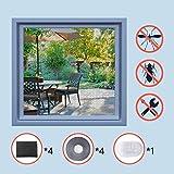 Homein 4ER Fliegengitter für Fenster Schwarz 130 x 150 cm, Mückennetz zum Insektenschutz Selbstklebend Moskitonetz mit Klettband Kleben Klettverschluss Wetterfest Netz