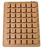 Seifenprofis 48 Buchstaben Zahlen Sonderzeichen Würfel Silikon Seifenform Backform Schokoladenform 24*18*1,5cm
