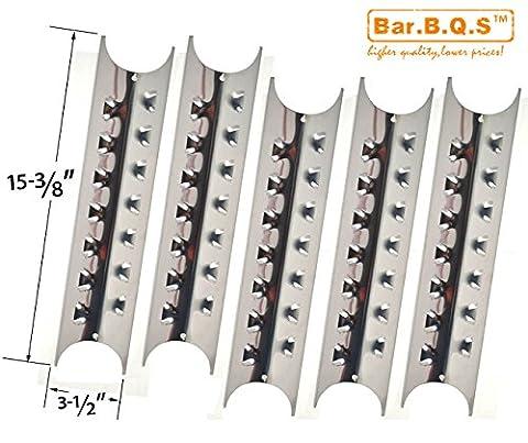 bar. b.q.s h95181Lot de 5plaque de chaleur en acier inoxydable de rechange pour Brinkmann Pro Series 8410, charmglow 810–8410-f, Kenmore, 148.1637110et Master Forge e3518-lp, L3218,