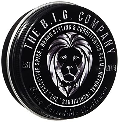 Beard Balm for Men - Medium Hold Beard Wax for Styling - Non Greasy - Deep Beard Conditioner - Promotes Beard Growth and Shine - Stop Beard Itch and Flakes - Get Beard Hacks Bible by B.I.G. Beard Balm