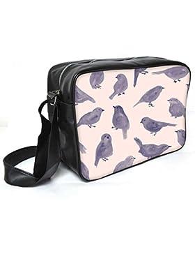 Snoogg Taube Paint Leder Unisex Messenger Bag für College Schule täglichen Gebrauch Tasche Material PU