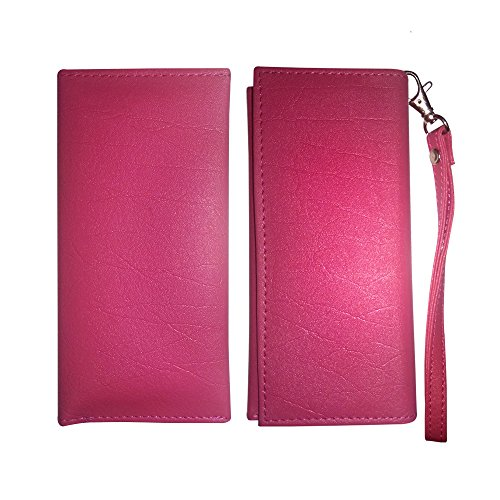 Fastway Leather Wallet Universal Pouch Cover Case For XOLO Q2000 (Pink)  available at amazon for Rs.379