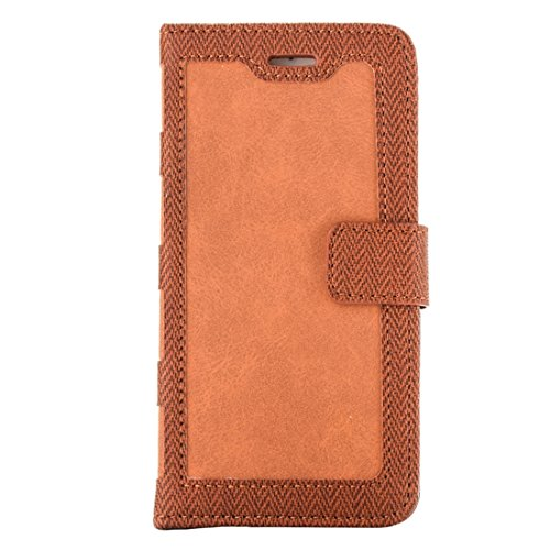 Hülle für iPhone 7 plus , Schutzhülle Für iPhone 7 Plus Business Notebook Style Hit Farbe Horizontale Flip Leder Tasche mit Halter & Card Slots & Wallet & Photo Frame ,hülle für iPhone 7 plus , case f Brown