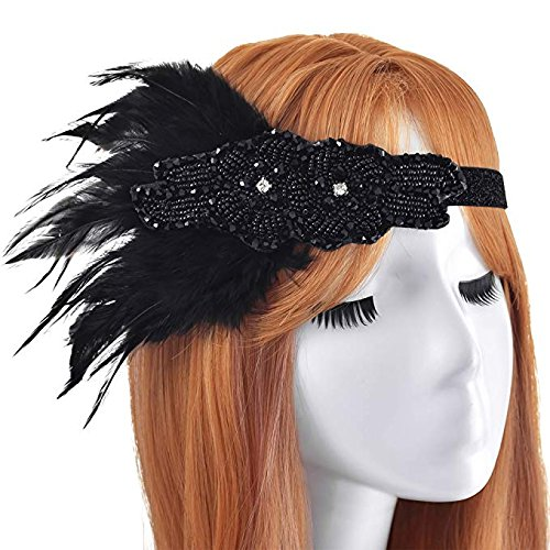 1920S Damen Kopfschmuck 20er Jahre Accessoires Damen Stirnbänder Haarband Gatsby Damen Kostüm...
