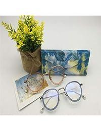 WEILIVE - Funda Plegable para Gafas de Sol, Funda de Gafas, Azul, 16.0x6.5x6.5cm