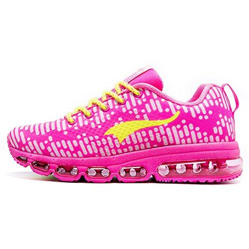 Onemix Air Scarpe da Ginnastica Corsa Sportive Uomo Donna Sneakers Fitness Running Unisex Adulto Rosa Size 39 EU