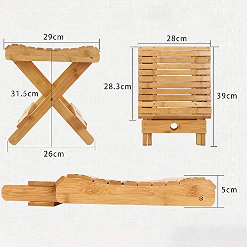 WLG Outdoor tragbaren Klappstuhl, Hartholz einfach zu falten und tragen Duty Camping Klappstuhl, Holz Klappstuhl, ideal für Camping,B