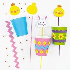 Kits marionnettes pop up poussin et lapin sur le th me des personnages de p ques que les enfants - 4 images 1 mot poussin lapin ...