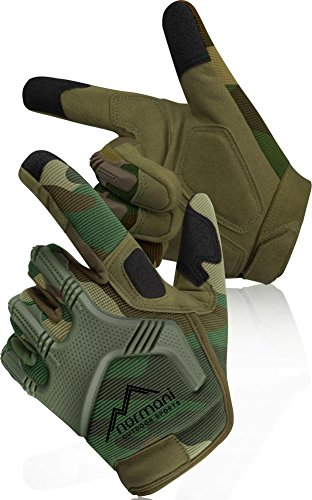Tactical Paintballhandschuhe Army Gloves Specialist Farbe Woodland Größe L