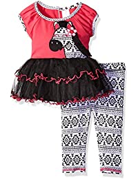 Youngland Baby Girls' Zebra Tutu Tunic and Legging