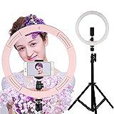 LED Anillo de Luz, iEGrow 30 Centímetros Exterior 10W Dimable Anillo Kit de Iluminación para Móvil, Youtube, Disparo Selfie Video