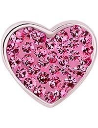 925 de plata de ley I LOVE YOU rosa colgantes diseño de corazón con cristal compatible con Pandora Pulsera de imitación