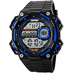 1163Men's Waterproof Fashion Quartz Digital shock Wristwatch