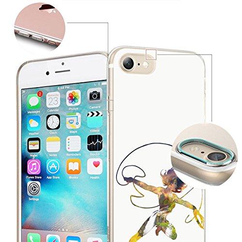 finoo | iPhone 6 / 6S Weiche flexible lizensierte Silikon-Handy-Hülle | Transparente TPU Cover Schale mit Wonder Woman Motiv | Tasche Case mit Ultra Slim Rundum-schutz | Every Mom Lasso Waterfall