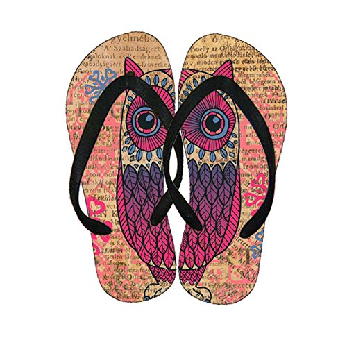 With Owl 1 For Girl Amusing Flip Flops Plastics