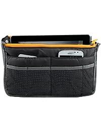 Yihya Mujer Travel Viajar Organizador Organizadores Bolsos con Insertar Forro Tidy Múltiples Bolsillos Bolsa Mejor Diseño de Cosmética Monedero Purse Handbag --- Gris