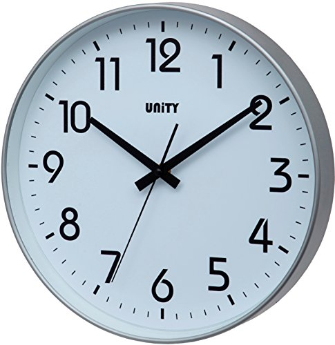 Unity Fradley - Reloj de pared silencioso, moderno, 30 x 30 x...