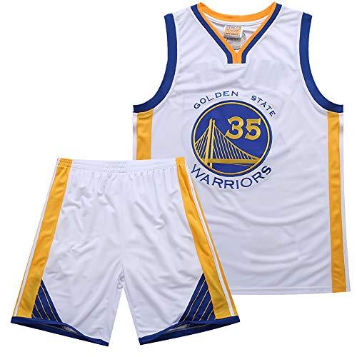 Warriors 35th Kevin Durant Jersey Bordado Set Summer Basketball Jersey