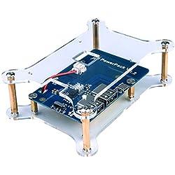 Quimat Bateria de Raspberry pi 3, Placa de Bateria de Litio 3800mAh + micro USB Cable + Carcasa para Raspberry Pi 3 2 Modelo B RPi 1 B B + A A +