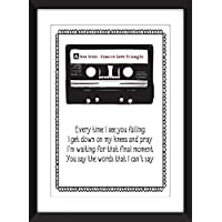 New Order Bizarre Love Triangle Lyrics Unframed Print