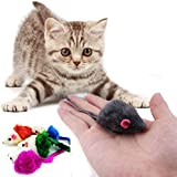 3x Spielmäuse für Katzen Katzenspielzeug Fellmäuse Cat Toy