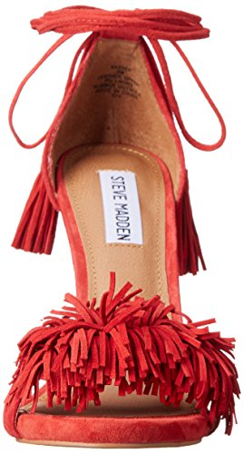 Steve Madden Sassey Dress Sandal red