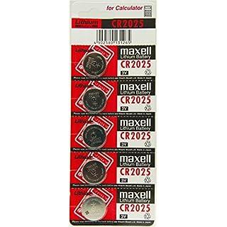 aksans (TM) 10x maxell 2025CR2025Schlüssel Fernbedienung, Akku Batterien