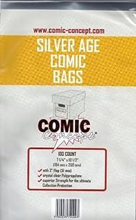 Comic Concept Silver Age Comic Bags (100) (B005EL6UM2) | Amazon price tracker / tracking, Amazon price history charts, Amazon price watches, Amazon price drop alerts