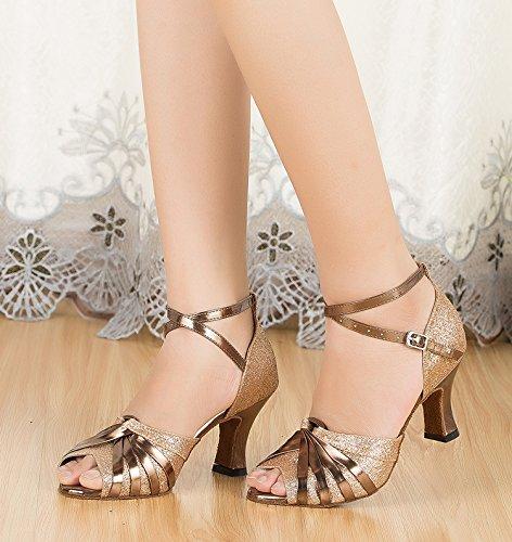 SuHang sandals Lombard Dance Shoes Latin Dance Schuhe Damen Dance Schuh Freundschaft Dance Schuhe Square Dance Schuhe Weich unten, Schwarz, 39