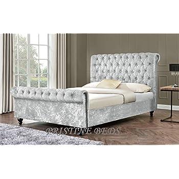 New Stunning Crushed Velvet Luxurious Chesterfield Bed Frame