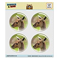 Puffy Bubble Dome Scrapbooking Crafting Stickers - Kangaroo