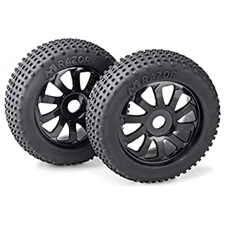 Absima 2520015 - RC Car Wheel Set Buggy Razor 10 Spoke Dirt 1:8 Set of 2 Black