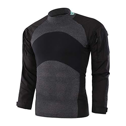 Herren Pullover Taktische Softshell-Sweatshirt Bequeme Herbst Outwear für Herren | Tactical Military Top im Army-Style | Kontrastnähte