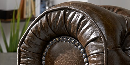 Echt Leder Sofa Chesterfield 3-Sitzer antik braun Couch Exclusive - 2