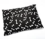 R&Z Large Pet Dog Bed Zipped Removable & Washable Cushion Cover Only (Black Bone)