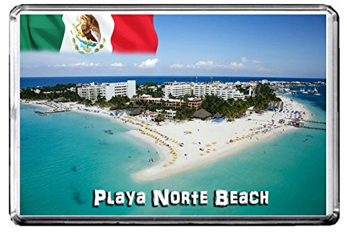 C240 PLAYA NORTE BEACH KÜHLSCHRANKMAGNET MEXICO TRAVEL REFRIGERATOR MAGNET