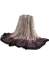 SunWard(TM) Women Floral Tribal Printed Soft Long Stole Wrap Scarves (Black)