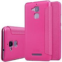 "Asus Zenfone 3 Max ZC520TL 5.2"" Funda - SMTR® Alta calidad Slim Fit Flip Case Cover Funda cubierta para Asus Zenfone 3 Max,(Rose Red)"