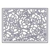 Demiawaking Fiori Frame Stencil per DIY Scrapbooking Album Segnalibro Taglio di Modello Goffratura Embossing Artigianale Carta Stampi (01)