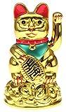 Krüger & Gregoriades 802050 - Winke-Katze, 11 cm, gold
