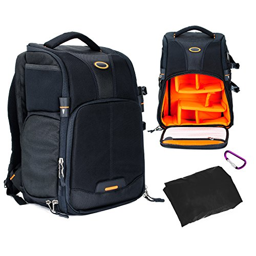 Camera Backpack Professional Photography Rucksack Bag Side-open Design with Tripod Holder