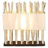 levandeo Lampe Tischlampe / Tischleuchte aus recyceltem Holz - Design Holzlampe Treibholz 50x17cm 54cm hoch - Jede Lampe ein Unikat naturbelassenes Massivholz