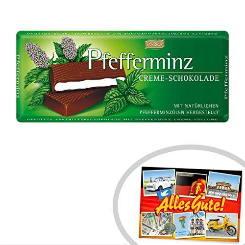 Preisvergleich Produktbild Pfefferminz Creme Schokolade ++ DAS Ostprodukte Geschenk - DDR Traditionsprodukt und Ossi Kultprodukt - Geschenkidee für alle Ostalgiker aus Ostdeutschland vom Ostprodukte Experten - Ostpaket mit DDR Klassiker - Ideal für jedes DDR Geschenkset