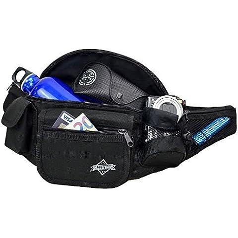 Riñonera para mujeres y hombres – Bolsa de cintura ideal como una bolsa de senderismo o para viajes y compras – de Globeproof